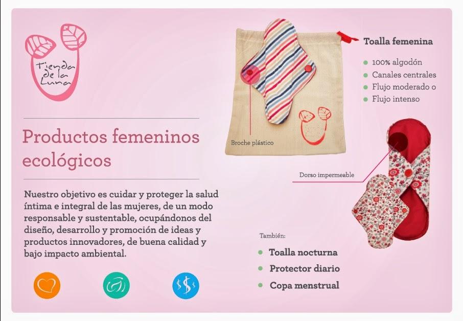 Toallitas femeninas ecologicas de tela