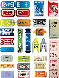 様々なデザインのチケット テンプレート Tickets in Different Styles Vector Set