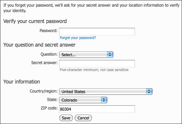 hotmail windows live account change question secret answer أهم الخطوات التي يجب مراعتها أثناء ابحارك في عالم الأنترنت