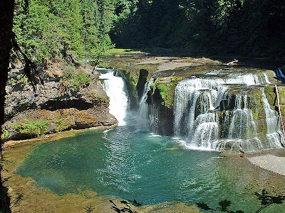 Lower Lewis River Waterfalls Washington
