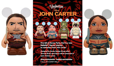 John Carter Disney Vinylmation Series - John Carter & Princess Dejah Thoris Vinyl Figures