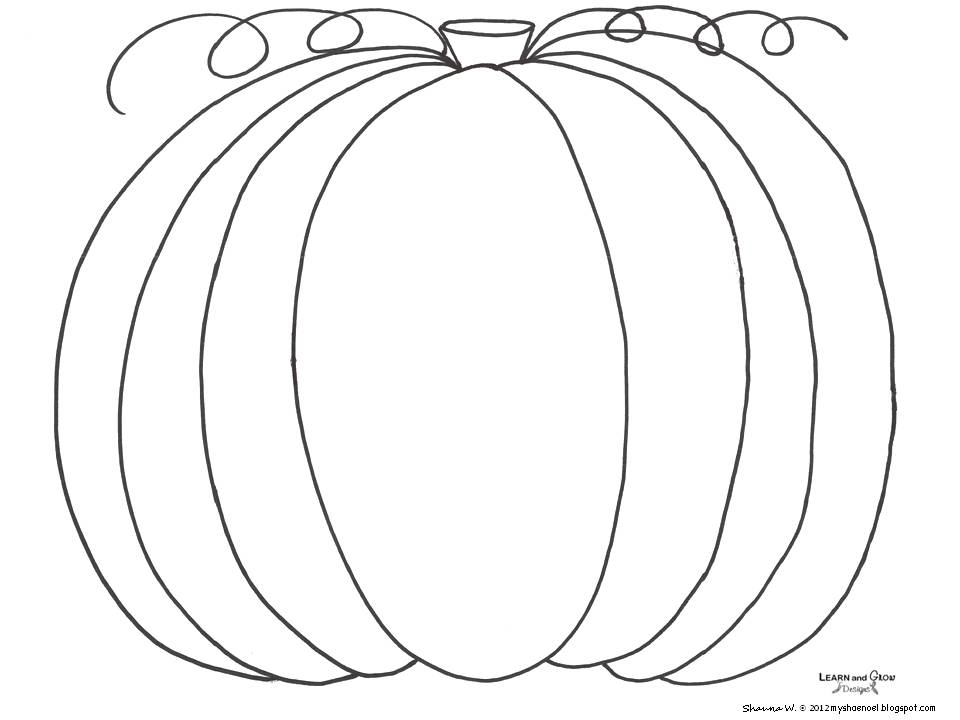Learn and grow designs website how to draw a pumpkin for Pumpkin coloring pages free printable