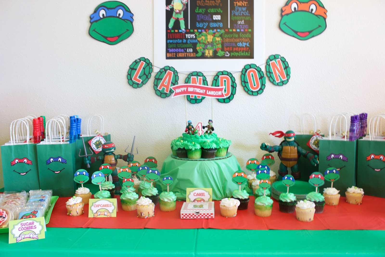The mommytastic adventures tmnt themed birthday party ideas for Tmnt decorations