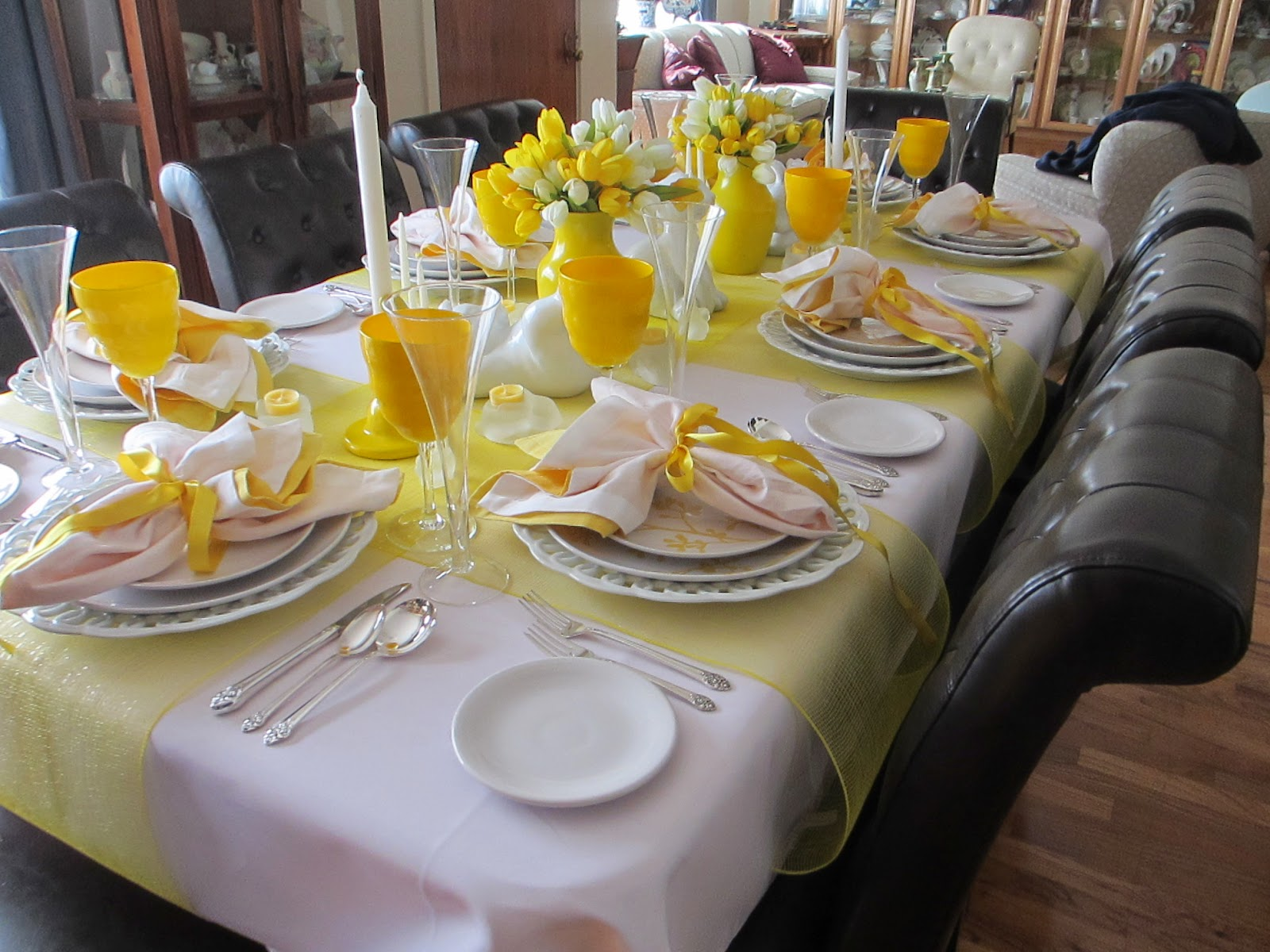 The Welcomed Guest Easter Dinner Table & Excellent Setting A Table For Easter Dinner Photos - Best Image ...
