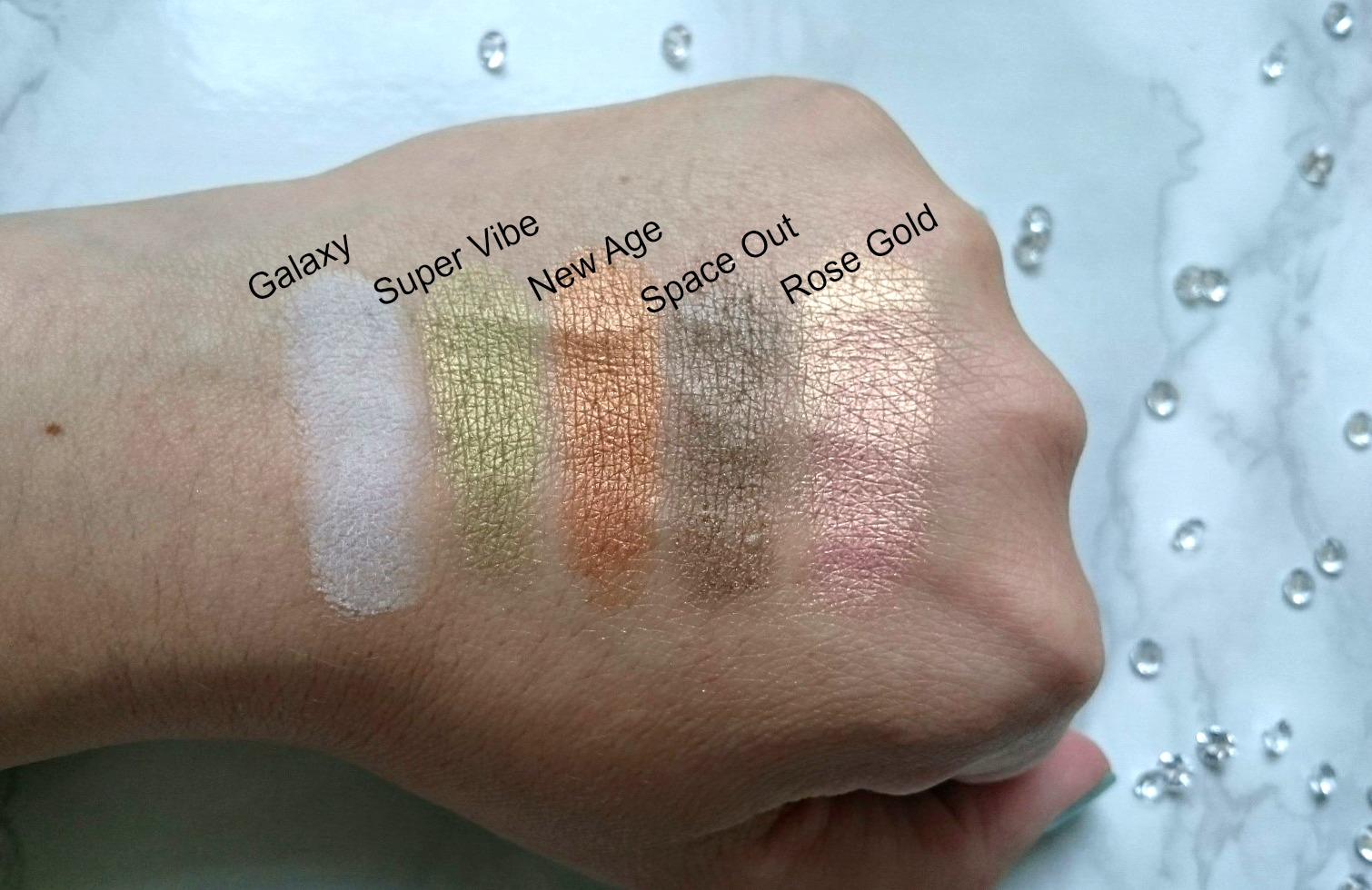 Zoeva Retro Future palette swatches