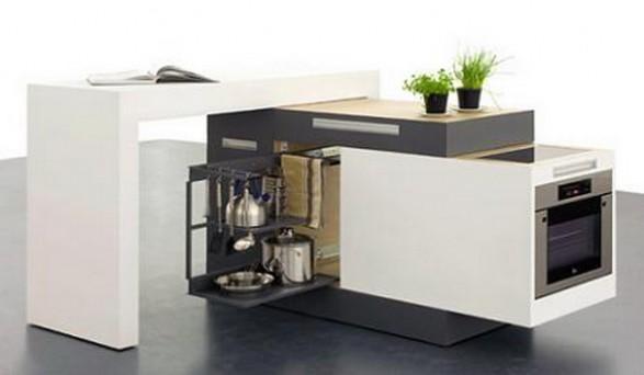 Cocina compacta y ampliable para espacios peque os c mo for Muebles cocina pequenos espacios
