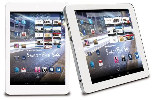 Design compatto con spessore di appena 8,4 mm per il nuovo tablet android 4.2 da otto pollici di Mediacom con processore quad core