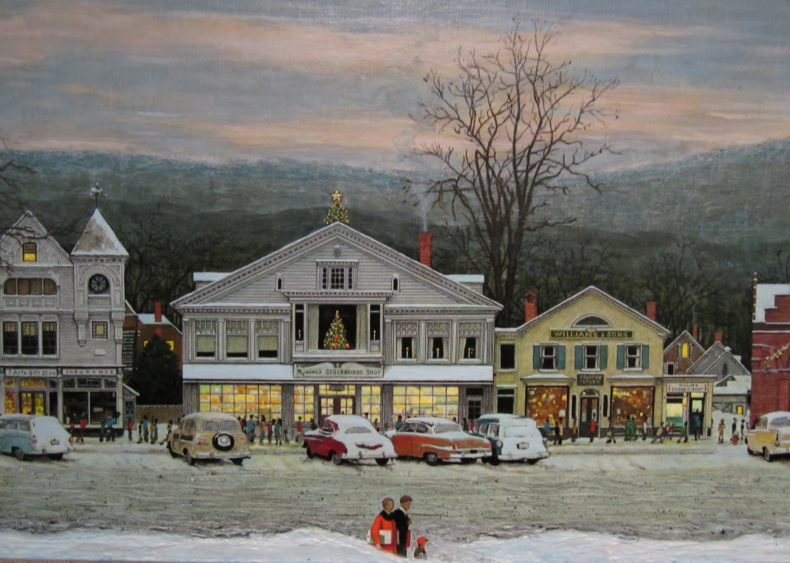 Norman Rockwell Christmas Village