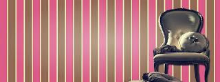 Capa para Facebook cadeira romântica com fundo rosa e marrom - Mineira sem Freio