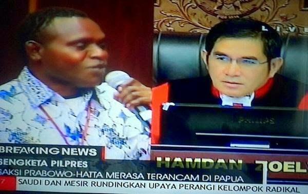 Saksi Prabowo Hatta dari Papua Dapat Ancamam Pembunuhan