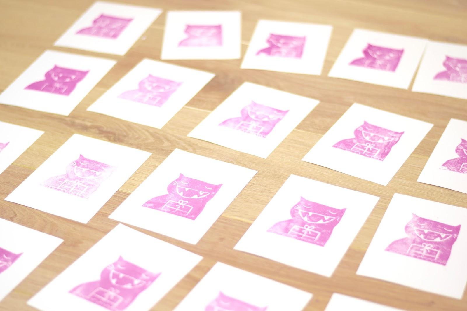ZimtZebra: Milchtüten- Druck für die Mail Art Aktion im Advent