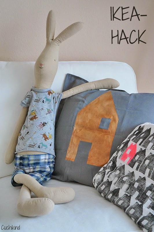cuchikind diy blog basteln und n hen f r kinder ikea hack metallic kissenh llen auf der. Black Bedroom Furniture Sets. Home Design Ideas
