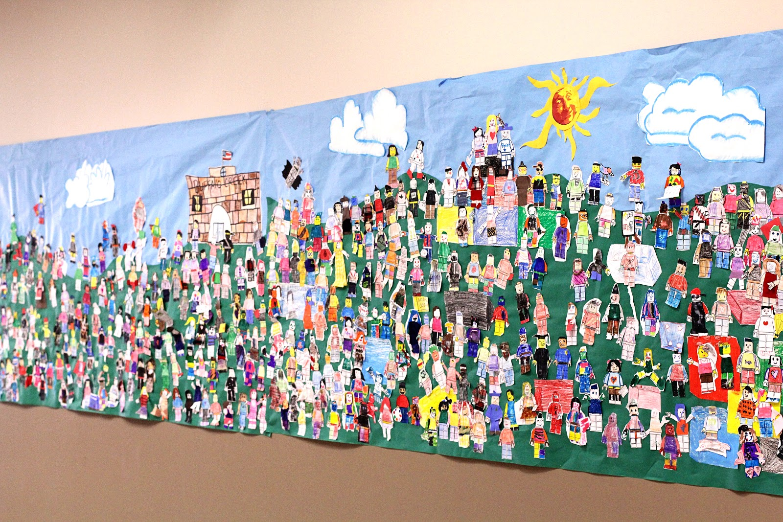 Smart class lego group whole school mural for Mural school