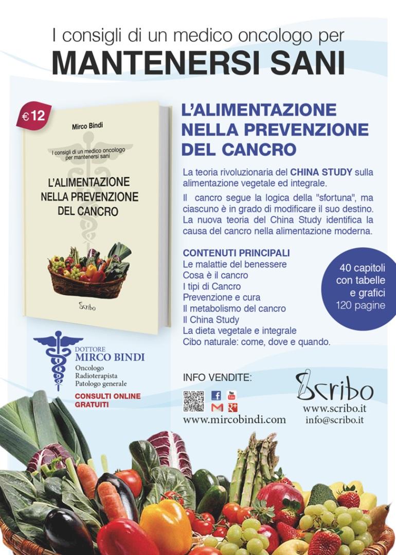 L'alimentazione nella prevenzione del cancro Edizione Scribo settembre 2015