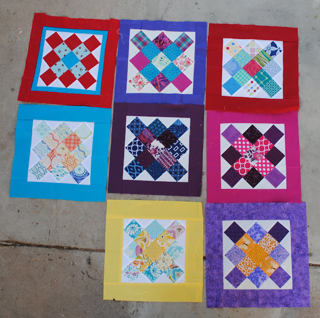 framed granny square blocks