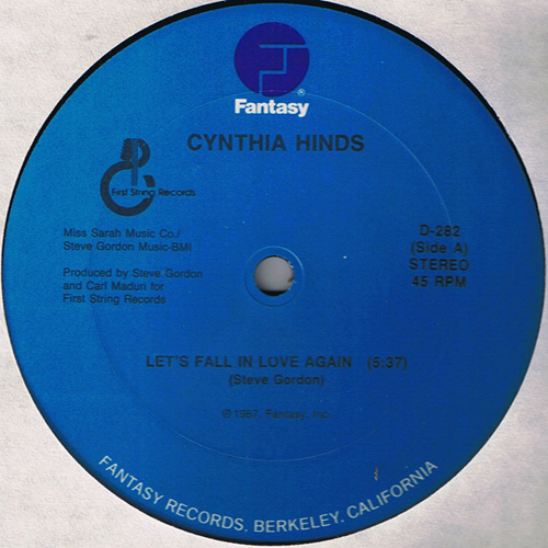 cynthia hinds lets fall love again