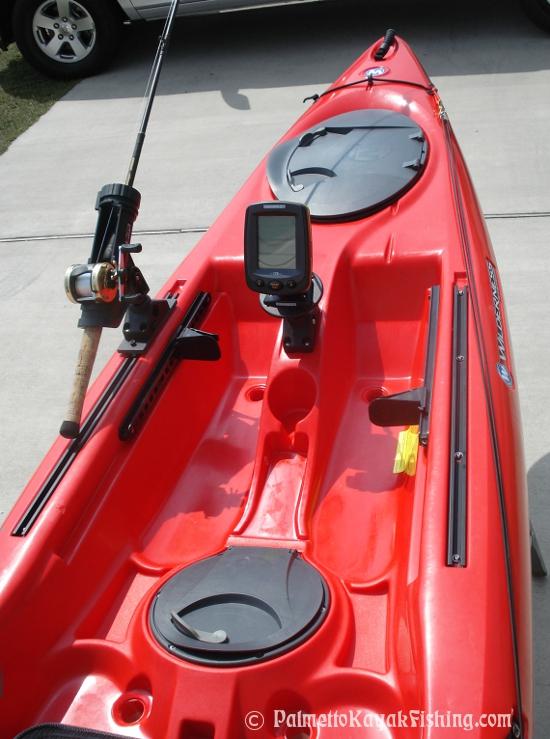 Palmetto kayak fishing 2012 wilderness systems ride 135 for Fish finder kayak