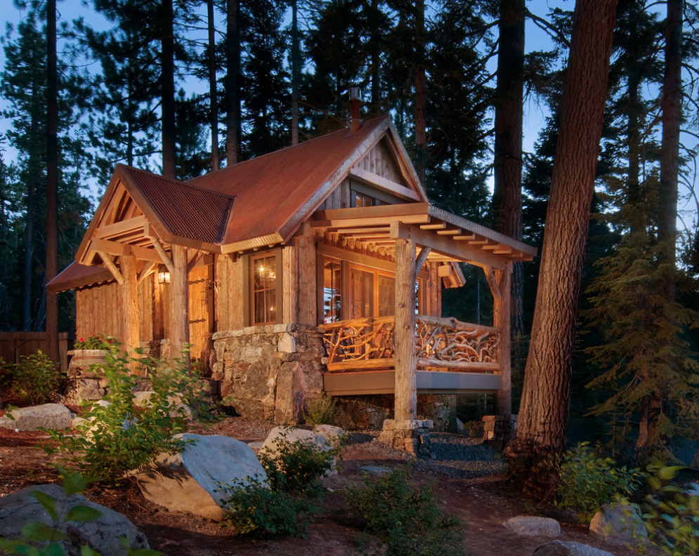 Coolest cabins cozy cabin for Small hot house plans