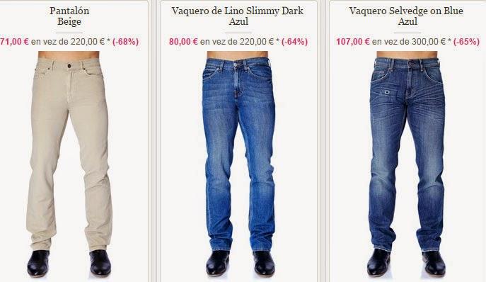 Ejemplos de pantalones para hombre en tonos claros