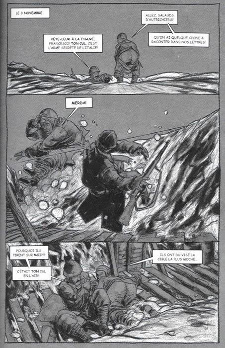 """Paginas del cómic """"La Muerte Blanca"""" de Charlie Adlard y Robbie Morrison"""