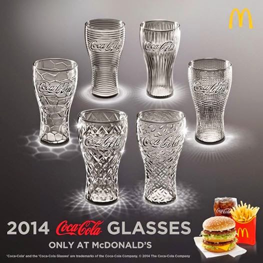 2014 Coca-Cola Glasses McDonald's