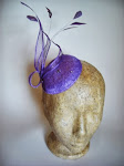 Lavender sinamay button fascinator