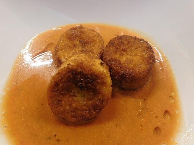 Kokoscurrysuppe, Kokossuppe, Currysuppe, Kochbananen Rezept, Kochbananen frittiert