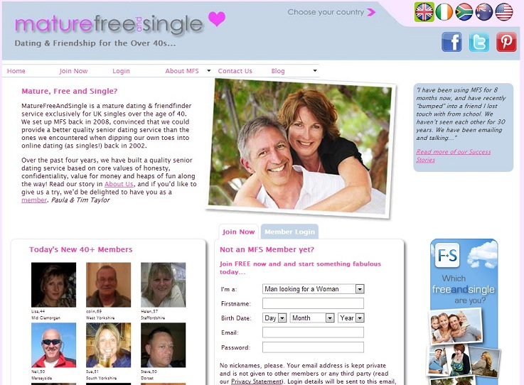 dating singles over This is why online dating is a perfect way to find a partner and meet other singles like you 50plus club offers middle aged and older singles the best possible conditions and a safe environment for a carefree dating.