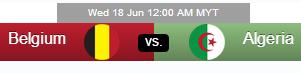 Belgium vs Algeria