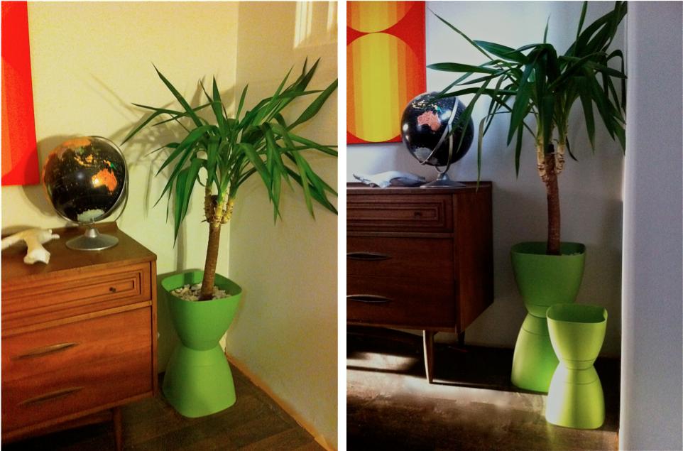 mid century modern atomic indy mid century modern planter. Black Bedroom Furniture Sets. Home Design Ideas