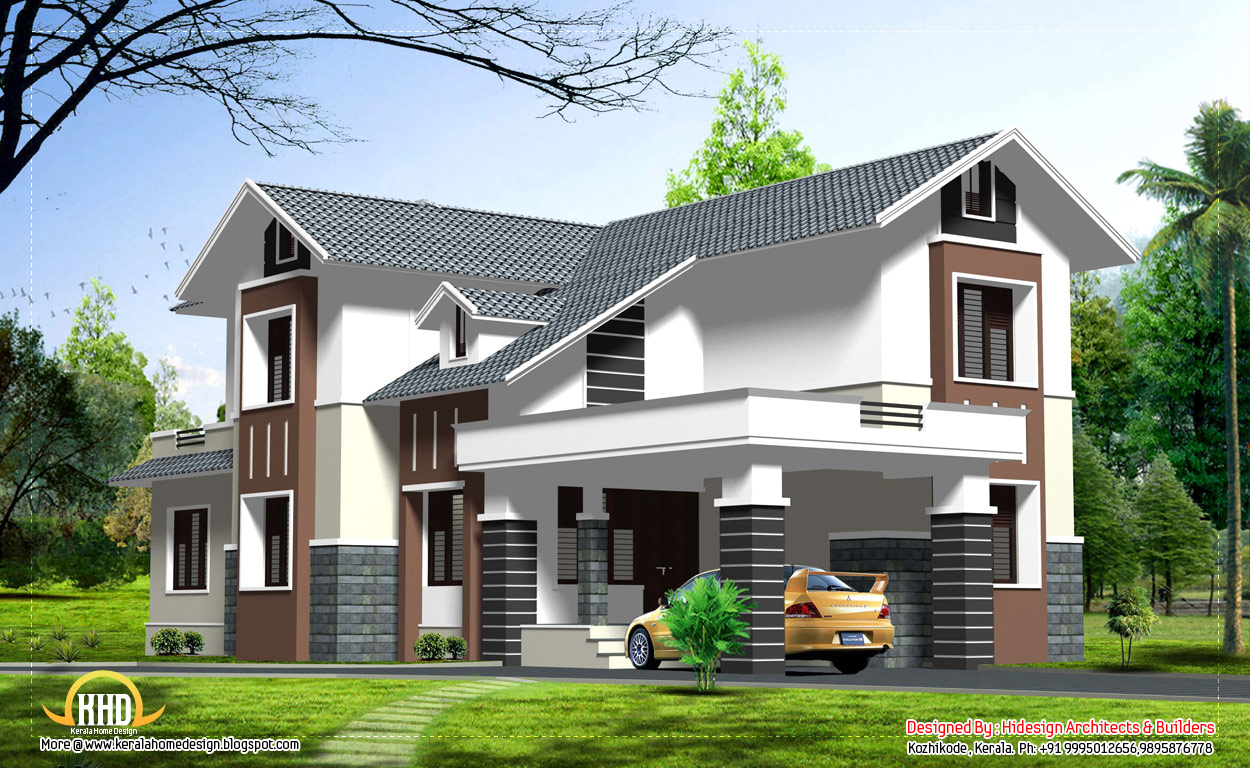 double story home design 2463 sq ft - Indian House Designs Double Floor