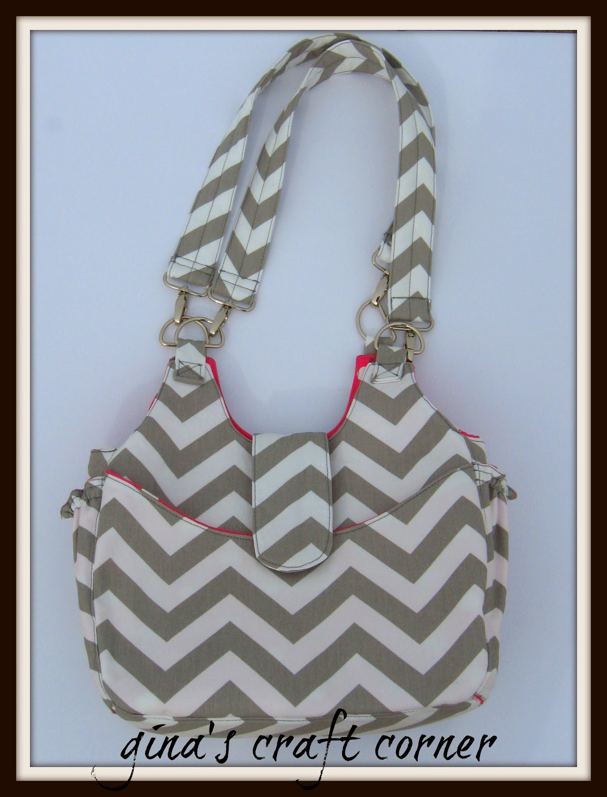 Chevron Bag by Gina's Craft Corner