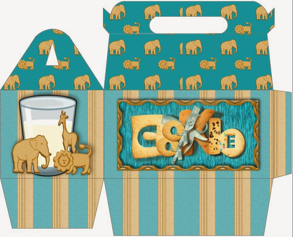Elephant Free printable Lunch Box.