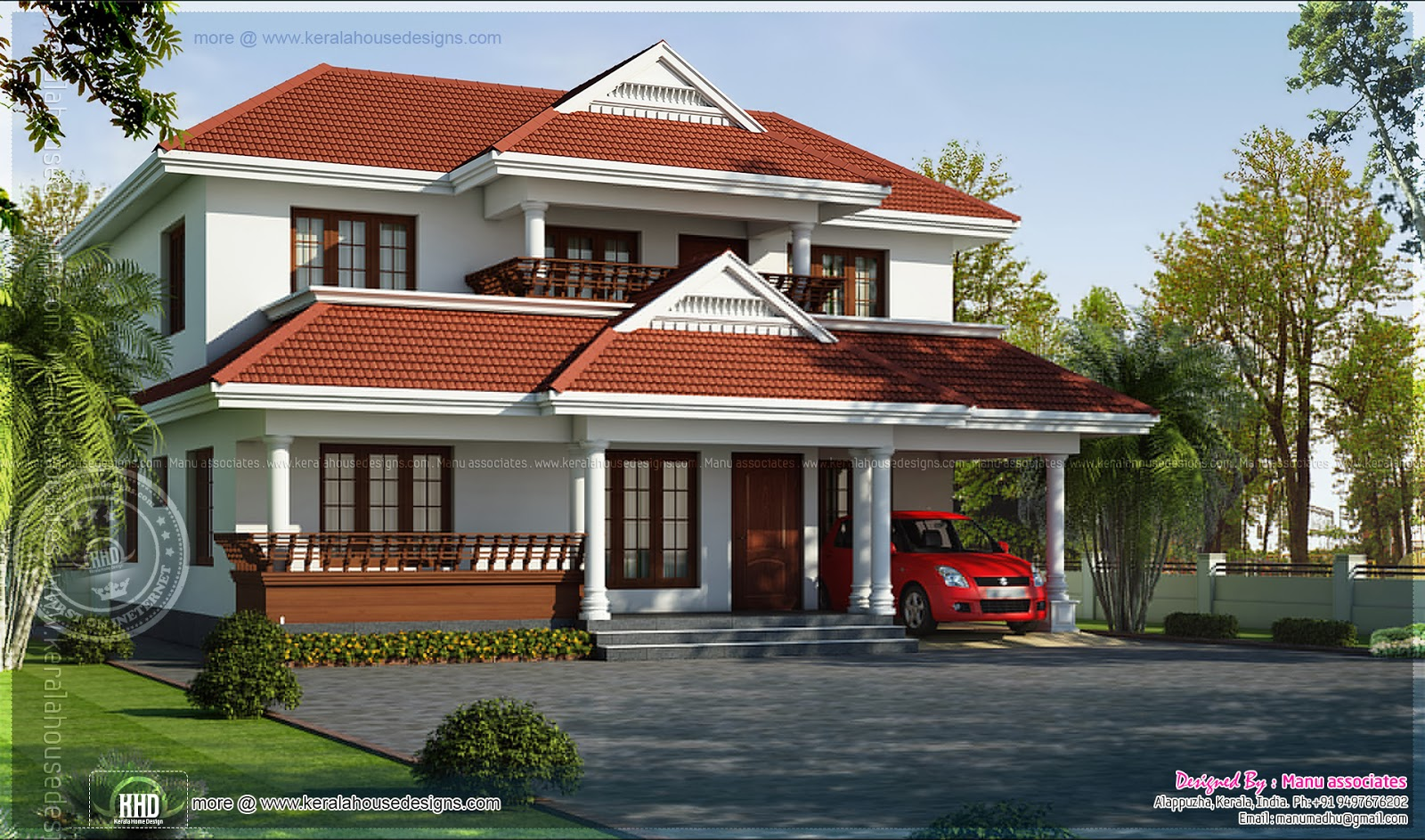 4 bedroom kerala model house in 2020 square feet indian for Model house photos in indian