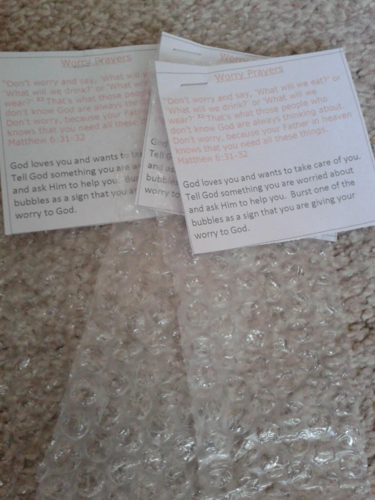 Flame Creative Children 39 S Ministry Bubblewrap Worry Prayers