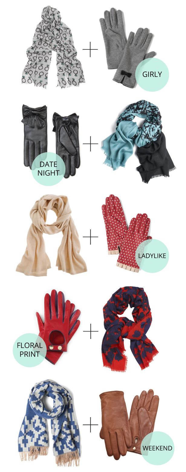 Not Without Heels: 5 Perfect Scarf + Glove Combos