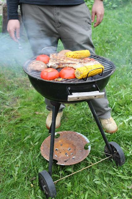 grillning, män