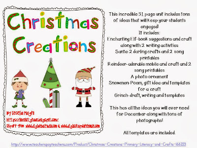 http://www.teacherspayteachers.com/Product/Christmas-Creations-Primary-Literacy-and-Crafts-166223