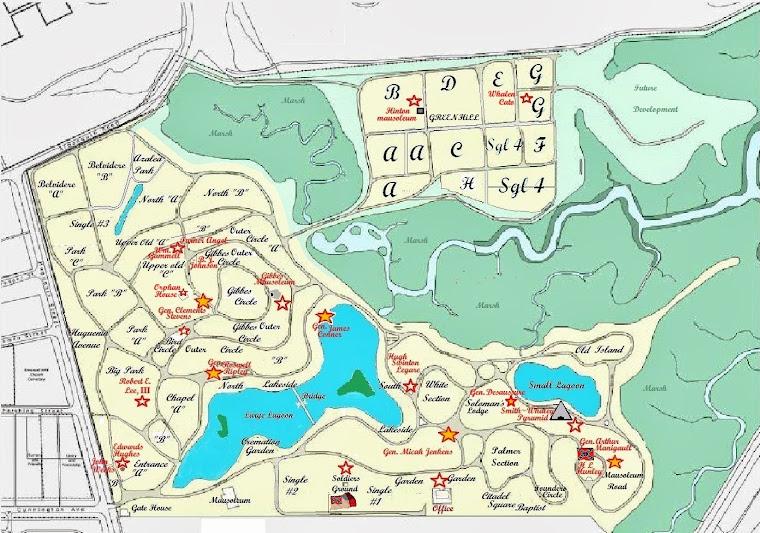 Map of Magnolia Cemetery
