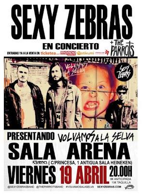 Sexy Zebras Sala Arena 19 de Abril 2013 Sorteo de Entradas