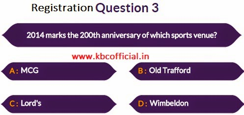 Kaun Banega Crorepati IDEA PASS Registration : Second Phase Started Question No 03 - Dated 15th September 2014