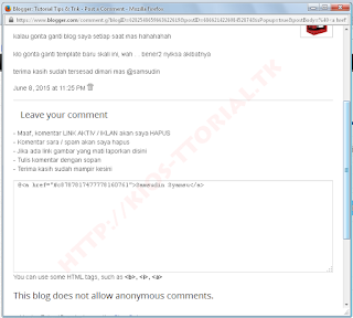 Mengatasi Tombol Reply Error Pada Blog