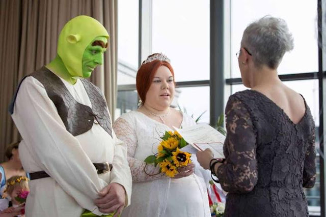 shrek fiona wedding matrimonio a tema
