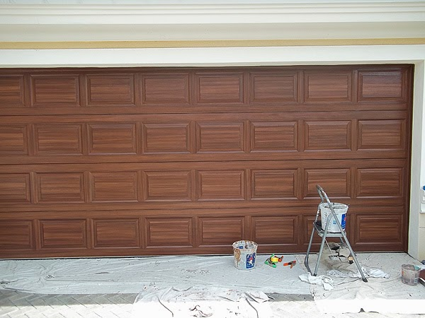 July 2014 everything i create paint garage doors to for Paint garage door to look like wood