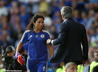 Sports : Former Chelsea doctor Eva Carneiro arrives court today to begin case against club and Jose Mourinho [ Photos ]