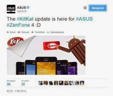 Asus gulirkan update Android 4.4 KitKat untuk ZenFone 4