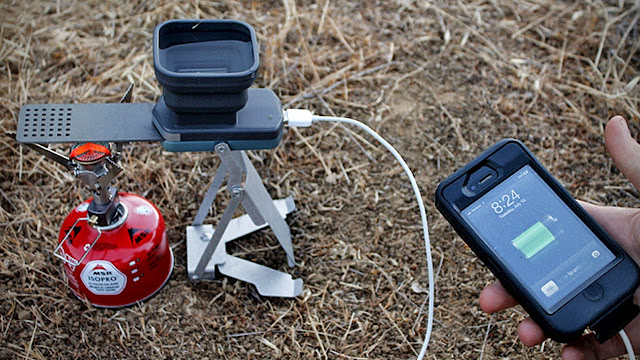 USB Phone Charger Charges With The Power Of FIRE