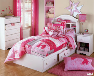bedroom teen young girl design interior pink color