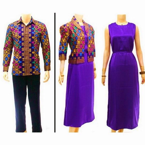 Baju Batik Pasangan Muslim Motif Prada Bali
