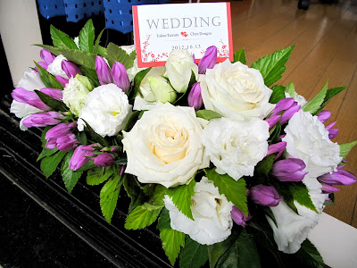 Japanese wedding ceremony flowers